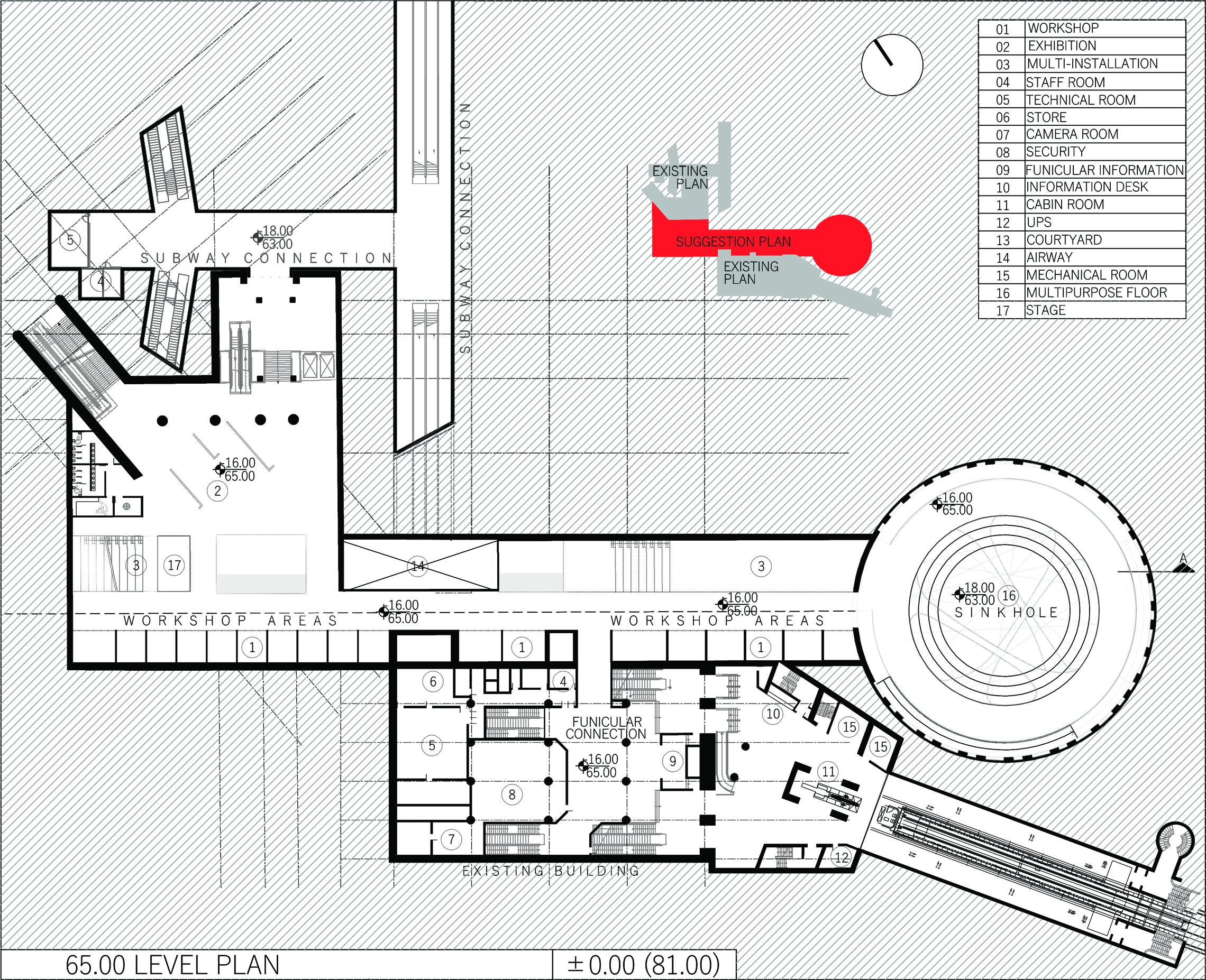 second basement plan